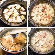 Winter Melon Clam Soup with Ginger - Souper Diaries Clams Soup Recipe, Seafood Soup Recipes, Tofu Soup, Winter Melon, Taiwanese Cuisine, Asian Soup, Molecular Gastronomy, Asian Recipes, Food Photography