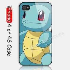 Pokemon Squirtle Custom iPhone 4 4S Case Cover   Merchanstore - Accessories on ArtFire