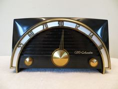 Vintage 1950s CBS Columbia Band Shell Old Modernistic Eames Era Bakelite Radio | eBay