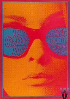 1967. Chambers Bros (Artist Victor Moscoso - Neon Rose psychedelic poster series for The Matrix in San Francisco.