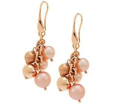 Honora Cultured Freshwater Pearl Bronze Dangle Earrings