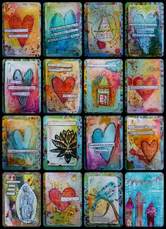 Made by Nicole: Recycled Playing Cards - Mixed Media