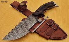 TR-40-Custom-Handmade-Damascus-Steel-Tracker-Knife-Stunning-Micarta-Handle