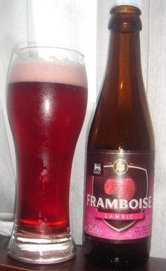 Cerveja Delhaize Framboise Lambic, estilo Lambic - Fruit, produzida por Timmermans, Bélgica. 4% ABV de álcool.