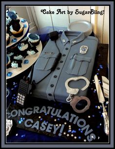 Police  Academy Graduation Cake. Hopefully I get one in khaki in three months!