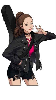 Pretty Anime Girl, Beautiful Anime Girl, Anime Art Girl, Cartoon Girl Drawing, Girl Cartoon, Cartoon Art, Cute Cartoon Wallpapers, Animes Wallpapers, Real Beauty