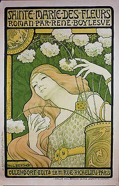 PAUL BERTHON ORIGINAL  LITHOGRAPH POSTER IN COLORS 1898 RARE ICONIC ART NOUVEAU