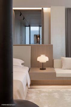 Treasure Island Hotel, White Rooms, Double Bedroom, Lounge Areas, Interior Inspiration, Guest Room, Bedroom Decor, Interior Design, House