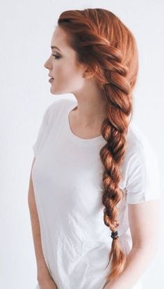 Rope braid is really multi-faceted and it looks special! See variations of impressive rope braid hai Easy Summer Hairstyles, Evening Hairstyles, Loose Hairstyles, Trendy Hairstyles, Medium Hairstyles, Curly Haircuts, Hairstyles Videos, Wedding Hairstyles, Celebrity Long Hair