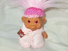 "TIME FOR BED 3"" Custom TROLL DOLL new pink faux hair vintage trolls dolls pajama #Unbranded #Dolls"