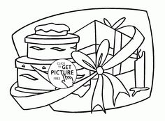 Many Birthday Gifts Coloring Page For Kids Holiday Pages Printables Free