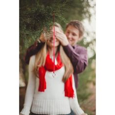 Christmas Proposal Shoot ❤ liked on Polyvore
