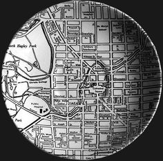 This Crown Lynn saucer and dinner plate were ornamented with a black on white map of Christchurch City. Known as the Down Town series, th. City Grid, Kiwiana, Pre And Post, Pottery, Crown, My Love, Ceramics, Vintage, Tableware