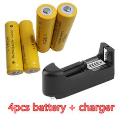 4pcs 18650 battery 3.7V 12000mAh rechargeable liion battery  for Led flashli batery litio battery+18650/26650/14500/16340 Charge