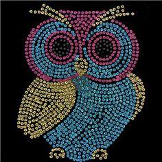 Viva Decor Pink, Blue & Gold Owl Sequin Iron-On   Shop Hobby Lobby