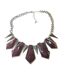 H&M necklace Dark purple statement necklace H&M Accessories