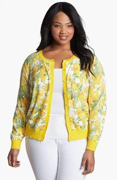 Lemon Print Cardigan #plussize