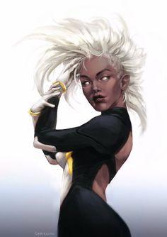 Afrofuturism Cyberpunk Storm X-Men Black Characters, Comic Book Characters, Marvel Characters, Comic Character, Comic Books Art, Comic Art, Marvel Heroines, Character Design, Storm Xmen
