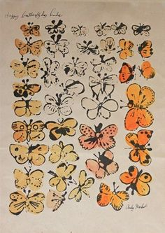 """Warhol's """"Happy Butterfly Day Linda"""""""