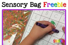 Check out this fun sensory bag idea you can use at the beginning of the year or as a review game any time in the year! All you need is a dry sensory idea, a baggie, and paper. Check out how to create this activity for your classroom.