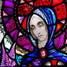 """herrshitlordii: """" Selected Details From Irish Artist Harry Clarke's Stained Glass Windows (Sources from Flickr) """" Harry Clarke was born on March 17th, 1889 in North Frederick Street, Dublin, where his father Joshua had a decorating and stained glass..."""
