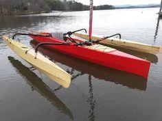 Expanded Trika Design Creates the TriRaid 560 Trimaran Sailing Kayak, Canoe And Kayak, Real Shark Attacks, Rowing Scull, Wooden Paddle Boards, Small Sailboats, Classic Wooden Boats, Wooden Boat Plans, Dinghy
