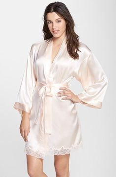 Free shipping and returns on Nordstrom Collection 'Luxe' Silk Robe at Nordstrom.com. For all those moments in between—coffee before work, one more chapter before lights out—indulge in the buttery-soft feel of a luxurious silk robe romanced with a bit of lace around the hemline.