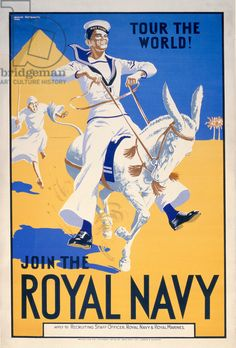 'Tour the World. Join the Royal Navy', navy recruitment poster, 1936 (colour litho)