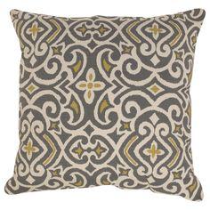 Pillow Perfect Damask Polyester Throw  Pillow