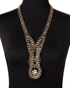 NATASHA Gold-Tone Ball Chain Necklace