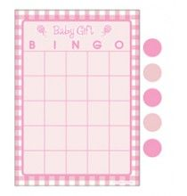 Bingo rose pour animer une Baby Shower Party Fille !!!