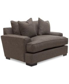 Ainsley Oversized Chair W/ 2 Throw Pillows, Only At Macyu0027s | Macys.com