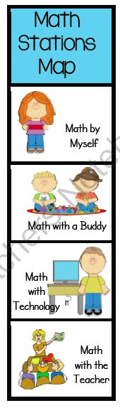 guided math rotation cards--maybe a way to have two math groups at a time