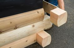 Modulog Log siding with Patented Log Ends