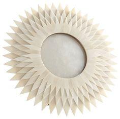 Bone Photo Frame - Sunburst traditional frames