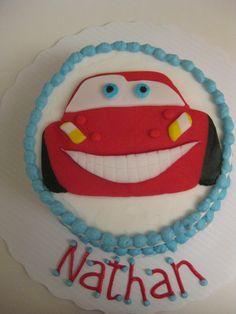 CARS Steve McQueen smash cake Karens Class of Cakes Pinterest