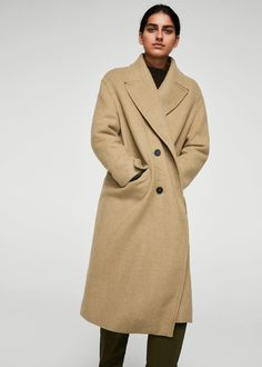 Oversize wool coat - Women | MANGO USA