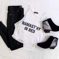 School is in session, but we just want to stay in bed. Channel lazy chic vibes this Monday with skinny jeans and a slouchy tank! #style #freestylefind #fashion #ootd #backtoschool