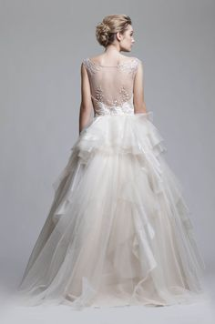 Illusion & Portrait Back Wedding Dresses from Camille Garcia Bridal RTW Bridal Gowns, Wedding Gowns, Simple Illustration, Illusions, One Shoulder Wedding Dress, Flower Girl Dresses, Couture, Boutique, Bride