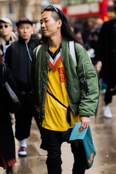 Raf Simons sweaters are a street style staple.