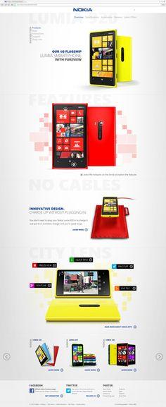 Nokia responsive website concept by Stan Gursky, via Behance
