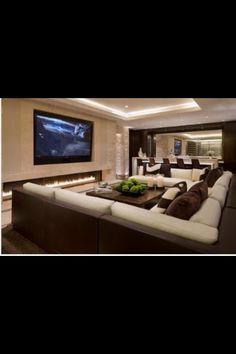 Tv room. Just needs some video game/media storage!