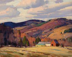 """""""Vermont Landscape,"""" Aldro Thompson Hibbard, oil on canvas board, 16 x 19-3/4"""", private collection."""