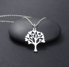 Tree of Love Necklace Sterling Silver Tree by themoonflowerstudio