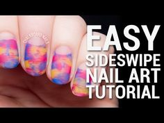 Easy Sideswipe Nail Art Tutorial with Negative Space by @chalkboardnails