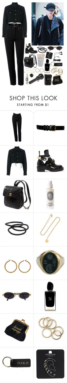 """""""Closed"""" by kittykarina ❤ liked on Polyvore featuring Moschino, Yves Saint Laurent, Blackyoto, Balenciaga, Kate Spade, Diptyque, Goody, Andrea Fohrman, Vince Camuto and Kieselstein-Cord"""