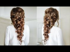 Voluminous Greek style  Braid / Easy Hairstyle for long dark hair - YouTube