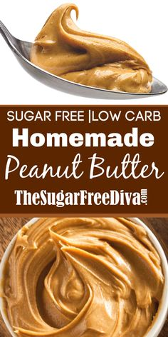 How to Make Homemade Sugar Free Peanut Butter, a low carb keto friendly sugar free recipe for peanut butter Sugar Free Fudge, Sugar Free Peanut Butter, Homemade Peanut Butter, Peanut Butter Recipes, Sugar Free Desserts, Sugar Free Recipes, Sweet Recipes, Snack Recipes, Dessert Recipes