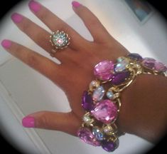 pink white and gold accessories