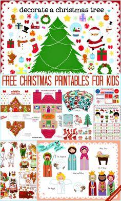 10 Christmas Printables para as crianças